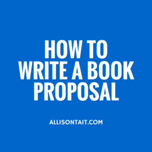 how to write a book proosal
